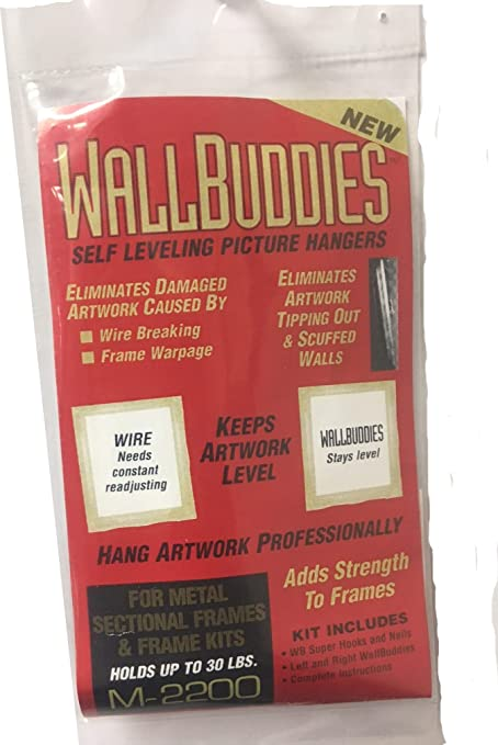 Wall Buddies Hanger For Metal Picture Frames Set Of 3 Amazon