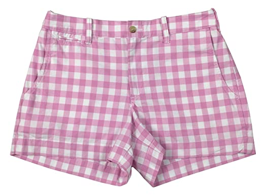 Ralph Lauren Polo Womens 3.5 quot  Checked Pony Logo Cotton Shorts (4 5a9ee84ff
