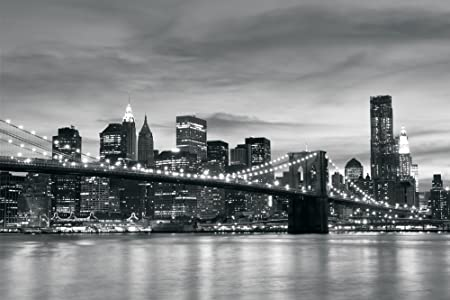 Brooklyn Bridge New York Black White Wallpaper Mural By