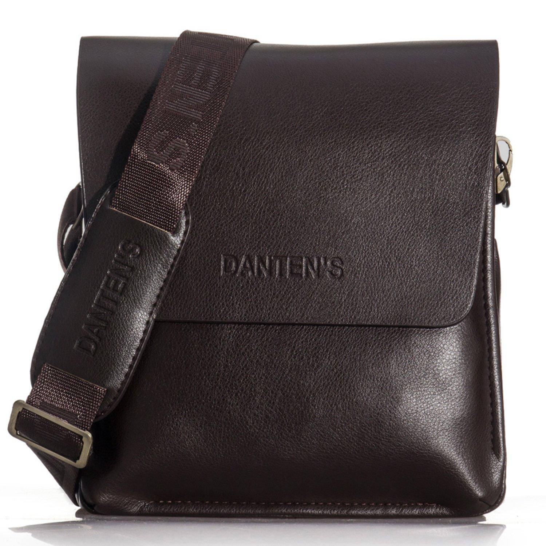 OFTEN Men's Genuine Leather Handbag Shoulder Briefcase Business Bag Crossby Bag Passenger Bag