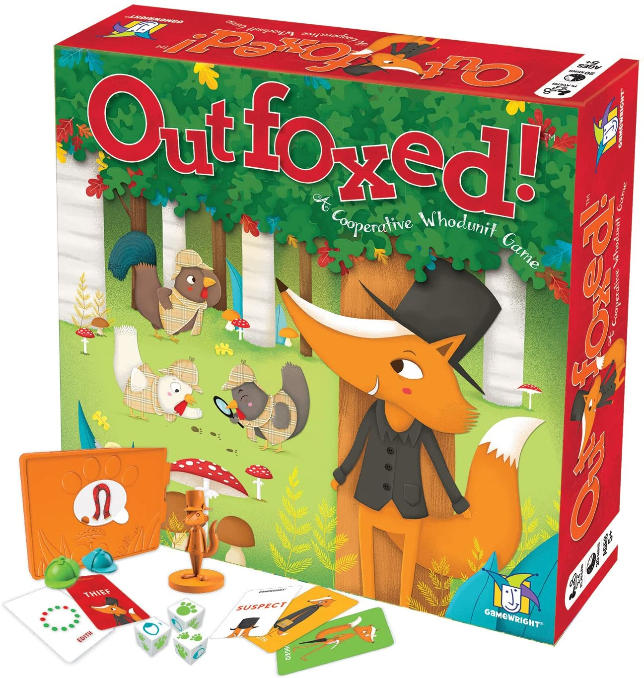 Amazon.com: Gamewright Outfoxed! A Cooperative Whodunit Board Game for Kids  5+, Multi-colored, Standard, Model Number: 418: Toys & Games