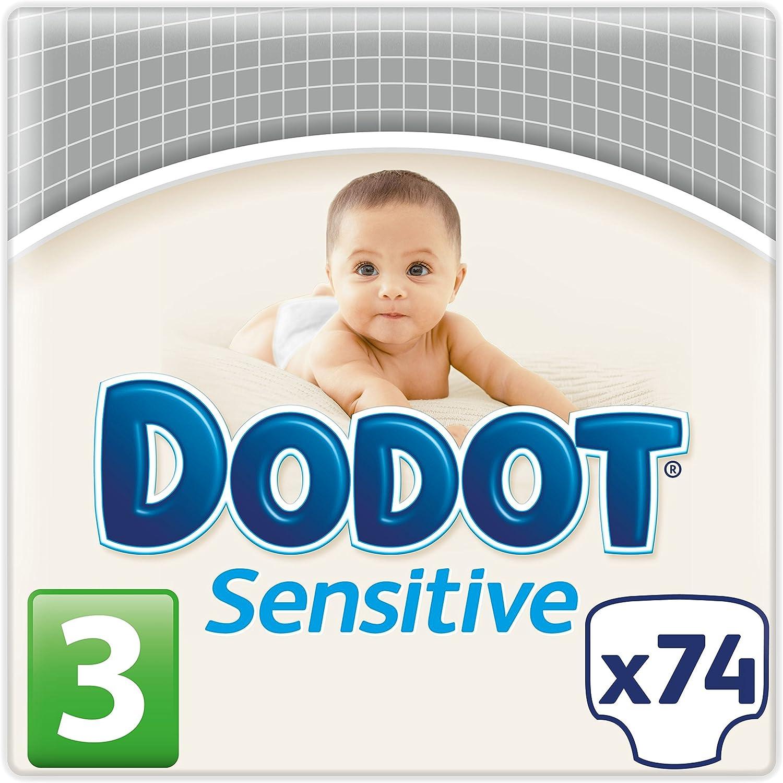 Dodot Pañales Sensitive, Talla 3, para Bebes de 5-10 kg - 74 Pañales: Amazon.es: Bebé