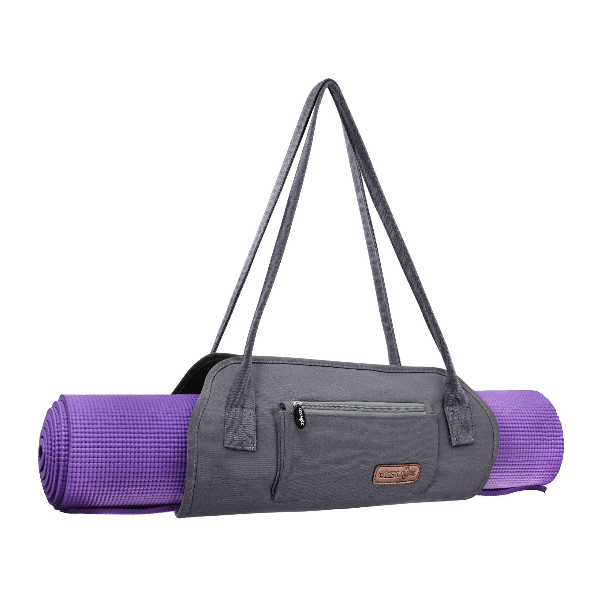 Cosmos Exercise Yoga Mat Carrying Shoulder Strap Bag with Internal and Outside Storge Pocket (Yoga Mat is NOT Included)