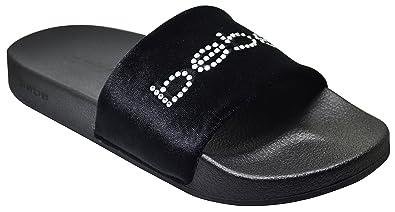 395e53edc64f Bebe Felizia Womens Velvet Slides Black Size 6