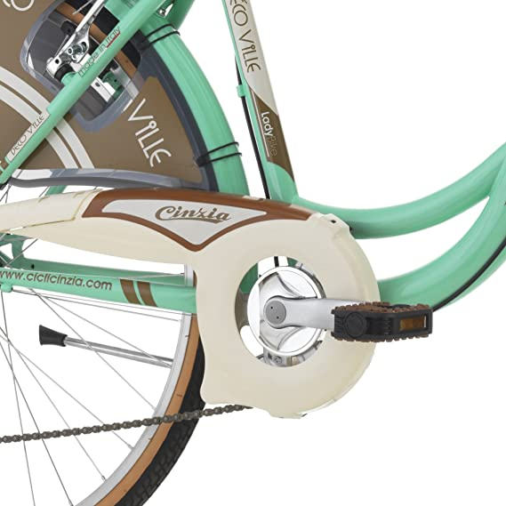 Bicicleta para mujer de Cinzia Decoville, 66 cm, 6 velocidades, mujer, 8033389462888, Mint grün: Amazon.es: Deportes y aire libre