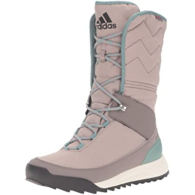 Amazon.com | adidas outdoor Women's CW Choleah High CP Leather Snow Boot, Vapour Grey/Black/Tech Earth, 10 M US | Snow Boots