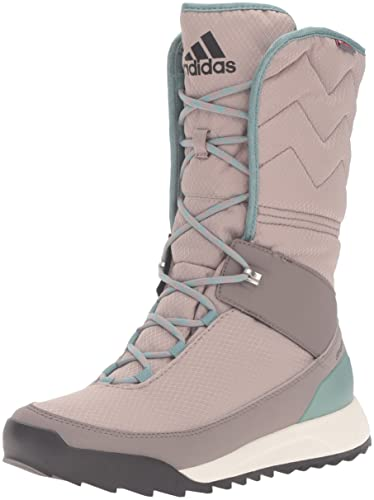 separation shoes b5fee fa11a adidas outdoor Women s CW Choleah High CP Leather Snow Boot Vapour  Grey Black Tech