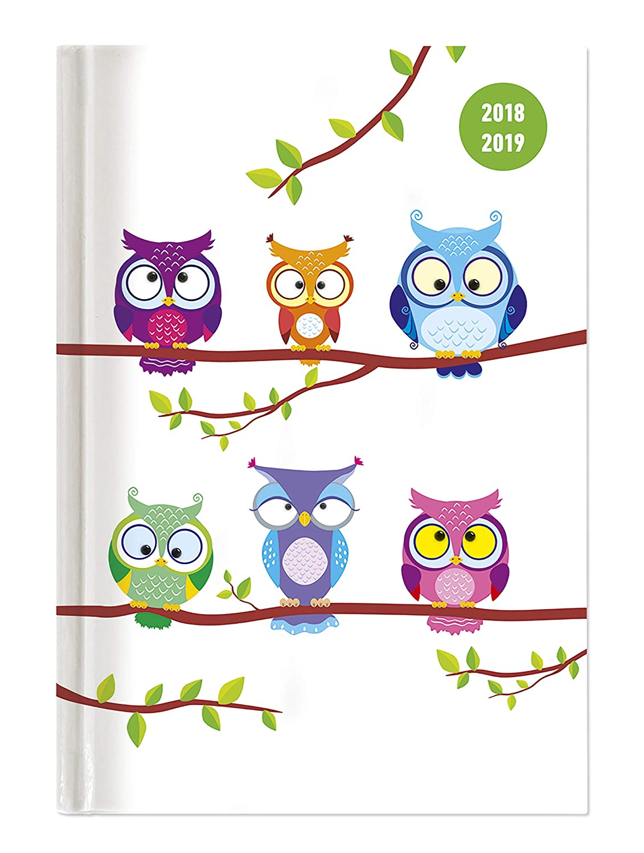 """Diario agenda scuola collegetimer """"Gufetti"""" 2018/2019 - Giornaliera - 352 pagine - 15x21 cm Alpha Edition 19.0704 Buchkalender Frühe Kindheit / Frühkindliche Bildung Kalender / Buchkalender Taschenkalender Kalender / Zeitplansysteme"""