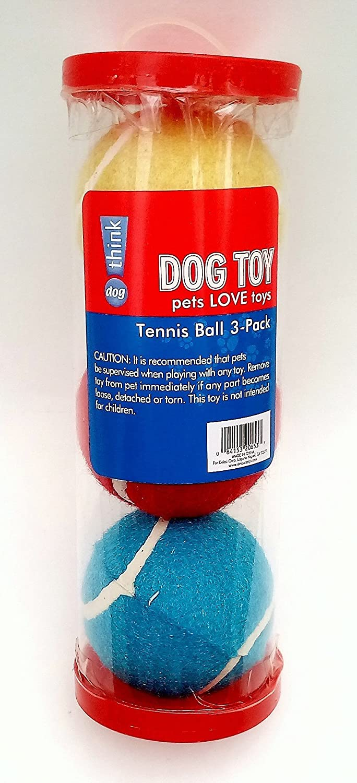 Think Dog  Dog Fetch Tennis Balls   3 Pack