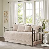 Madison Park Daybed Cover Set-Trendy Damask Quilting with Scalloped Edges All Season Luxury Bedding with Bedskirt, Matching S