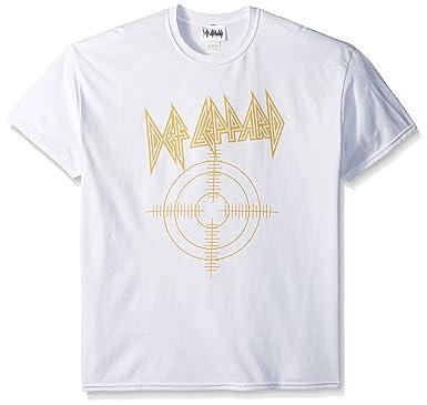 0bb70e5f5271 Def Leppard Men's Target T-Shirt, White, Small