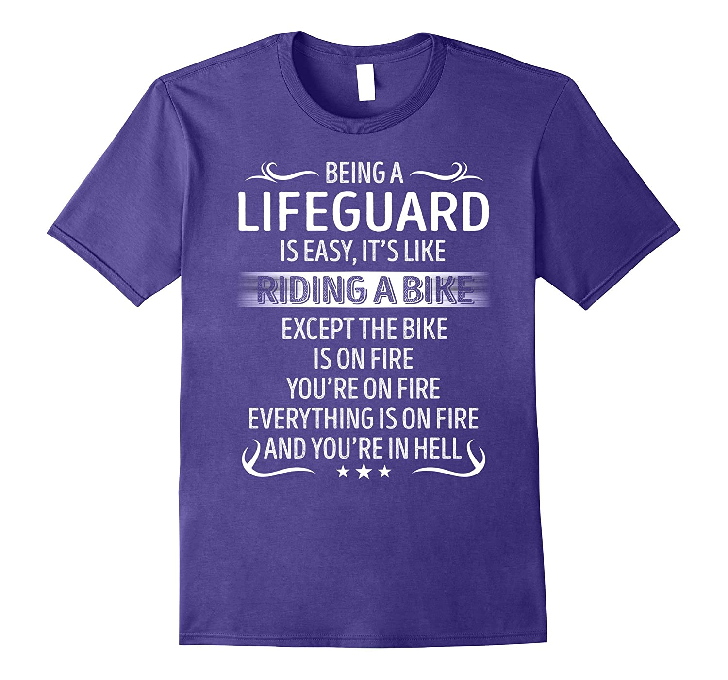 Being A Lifeguard Its Like Riding A Bike TShirt-CD