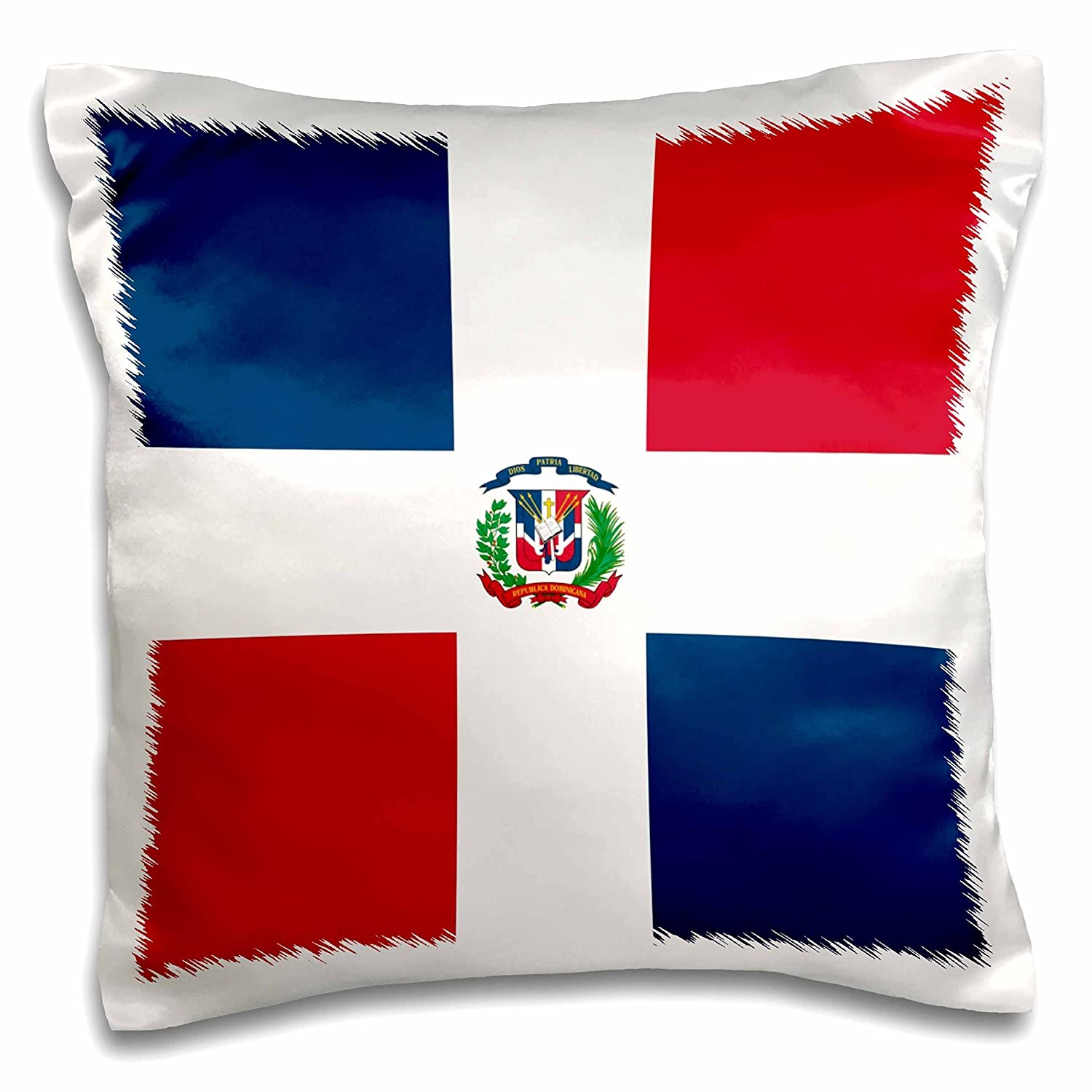 3D Rose Flag of The Dominican Republic-Navy Blue /& Red Squares with White Cross-Coat of Arms Shield Design Pillowcase 16 x 16 3dRose pc/_159801/_1