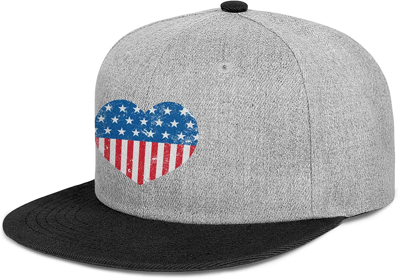Men Womens Trucker Hats Lovel American Flag Pictures Snapback Custom Cap