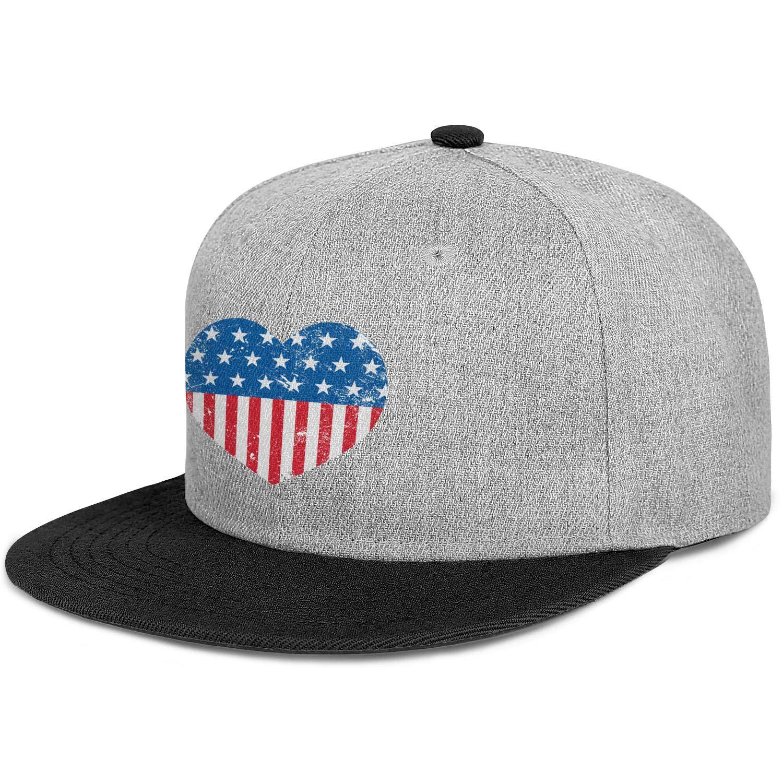 60b506305 FYFYOK Men's Women Dad Hats Lovel American Flag Pictures Snapback ...