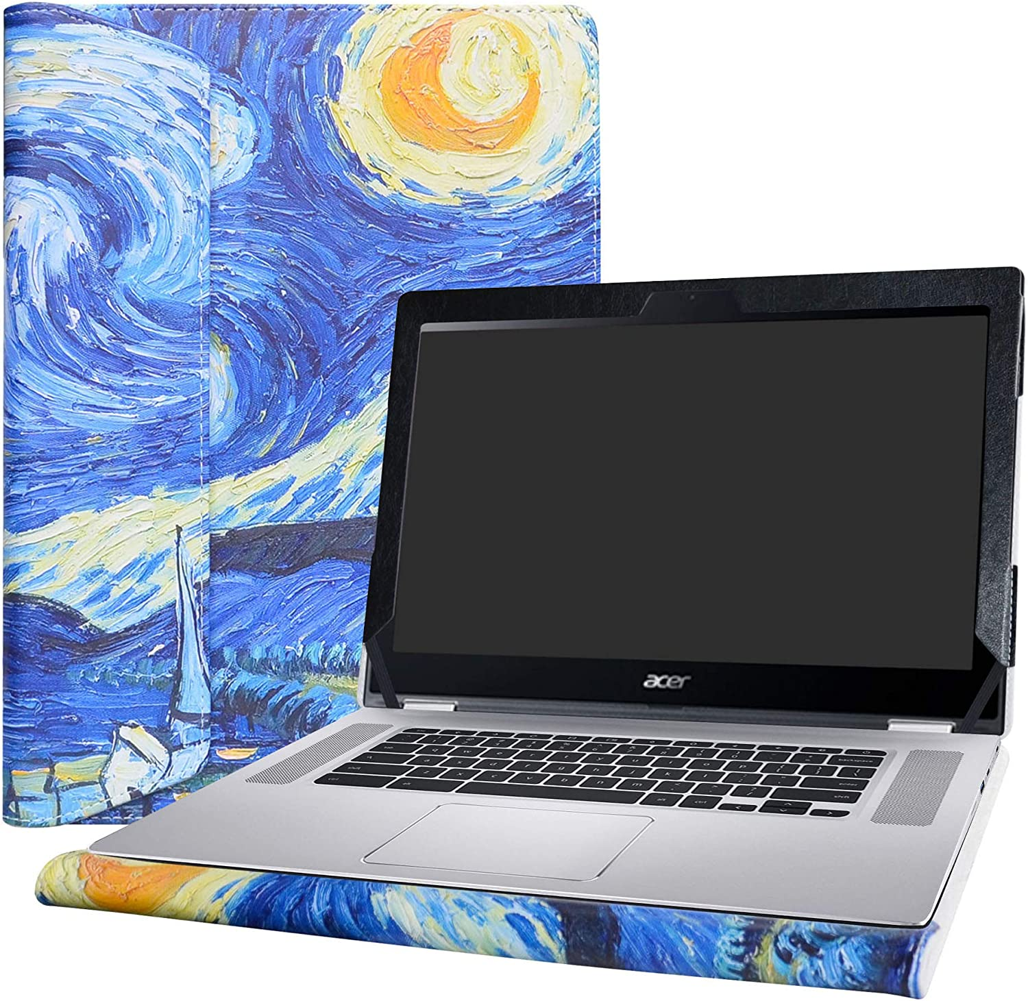 """Alapmk Protective Case Cover for 15.6"""" ACER CHROMEBOOK Spin 15 CP315-1H Series Laptop(Warning:Not fit Acer Chromebook 15 CB315-1HT & C910 CB5-571 CB3-532 CB3-531 CB515 Series),Starry Night"""