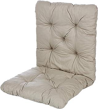 Ambientehome Java Exclusiv Hanko - Juego de 2 cojines con respaldo para silla