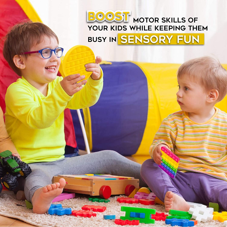 Cheap Fidget Push Pop Bubble Fidget Sensory Toy Fidgets for Kids Pop It Fidget Toy 4 Pack Sensory Fidget Toys Autism Toys Simple Dimple Bubble Popper Fidget Toy Aura Selico Pop It Fidget Toy