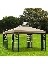 Exceptional Yescom 2 Tier 11.8u0027x9.8u0027 Patio Gazebo Canopy Top Replacement For Sunjoy