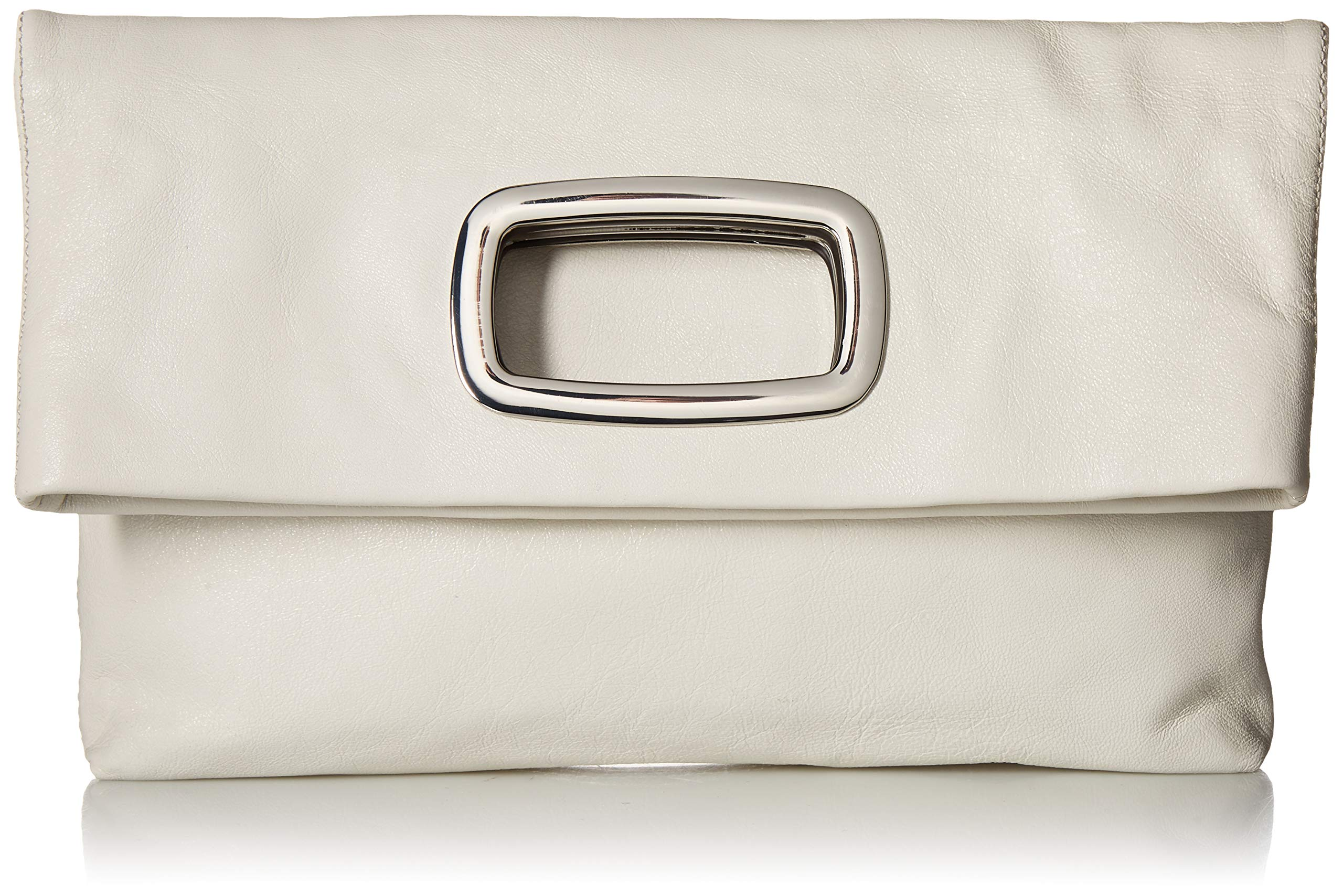 Vince Camuto Marti Large Clutch, snow white