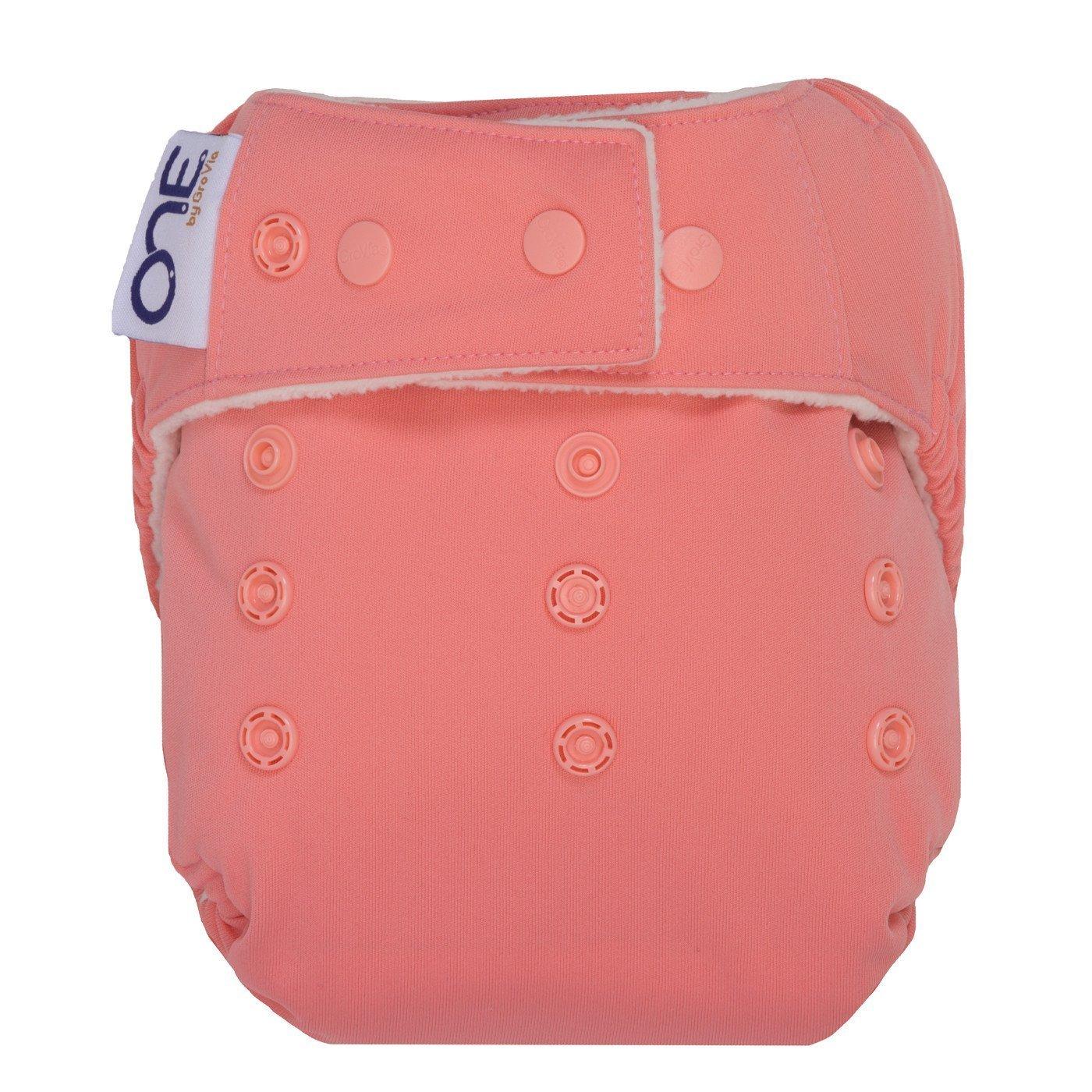 GroVia O.N.E. Reusable Baby Cloth Diaper (Rose)