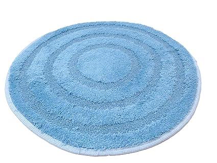 Centesimo web shop tappeto bagno rotondo prodotto in italia azzurro