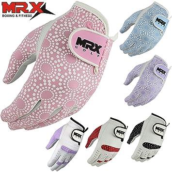 61a94932d MRX BOXING & FITNESS Women's Golf Glove Soft Cabretta Leather Regular Fit  Women Golfer Gloves Left Hand in