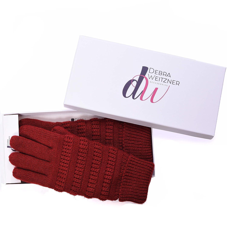 DEBRA WEITZNER ACCESSORY レディース B07J198F6G  Knit Glove - Burgundy