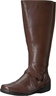 894f7f50c36a CLARKS Women s Cheyn Whisk Wide Calf Riding Boot