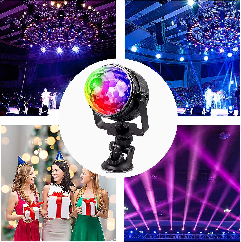 Justech LED Luces de Discoteca RGB Bola de Discoteca de 7 Colores 2 en 1 Mini Luces Nocturnas y Luces Discoteca con USB Carga para Casa con Control Remoto Bola Discoteca para Fiestas KTV DJ Bar