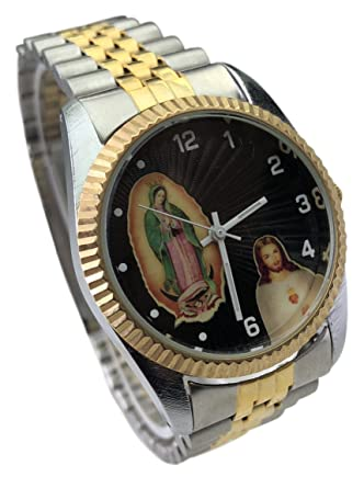 Reloj de Hombre Swanson Japan Watch Mens Con La virgen de Guadalupe & Jesus New Water