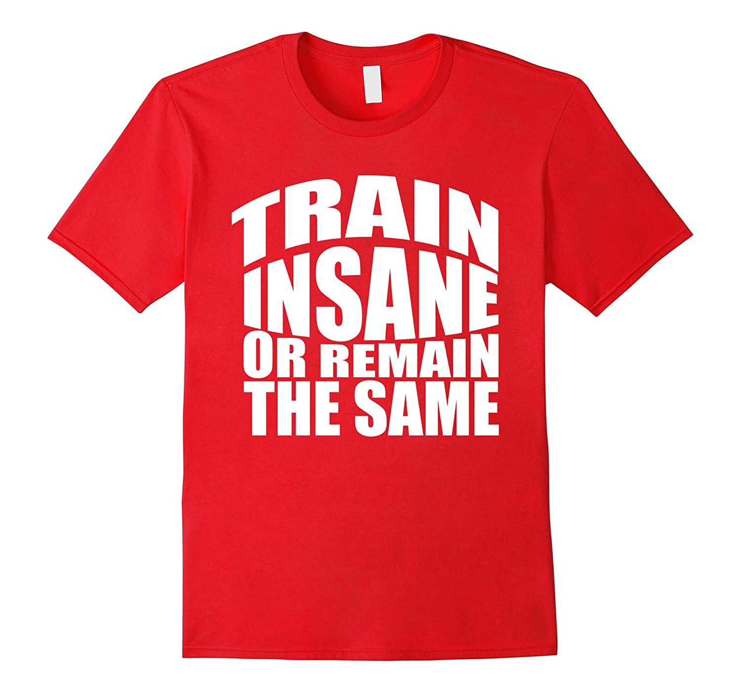 TRAIN INSANE OR REMAIN THE SAME TShirt Workout Gym Fitness W-TJ