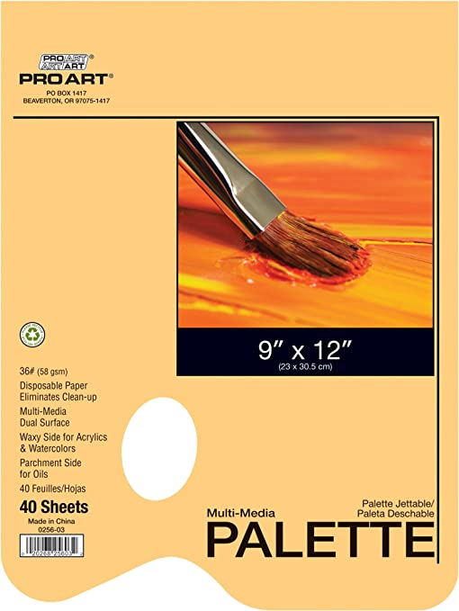 "4 in 1 Disposable Palette PAD  12/"" x 9/"" 40pc"