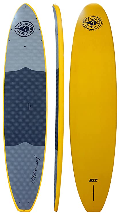 """Art in Surf Composite Hit Paddle Board, Yellow, 106"""" x 32"""""""