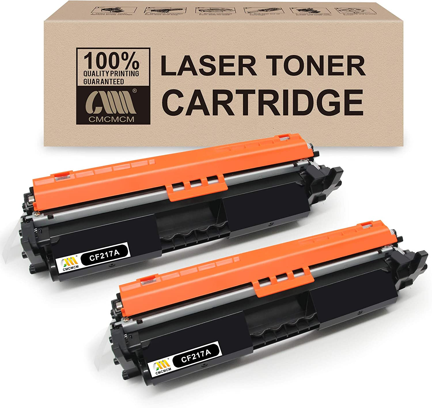 CMCMCM 2PK Compatible Toner Cartridge Replacements for HP 17A CF217A Work with Laserjet Pro MFP M102w M130nw M130fn M130fw M102a M130a M102 M130 Printer