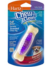 Hartz Chew 'n Clean Tuff Bone Bacon Scented Dental Dog Chew Toy - Extra Small