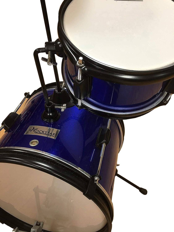 Bateria para niños infantil Infantil Rockstar GC1044BL color azul metálico: Amazon.es: Instrumentos musicales