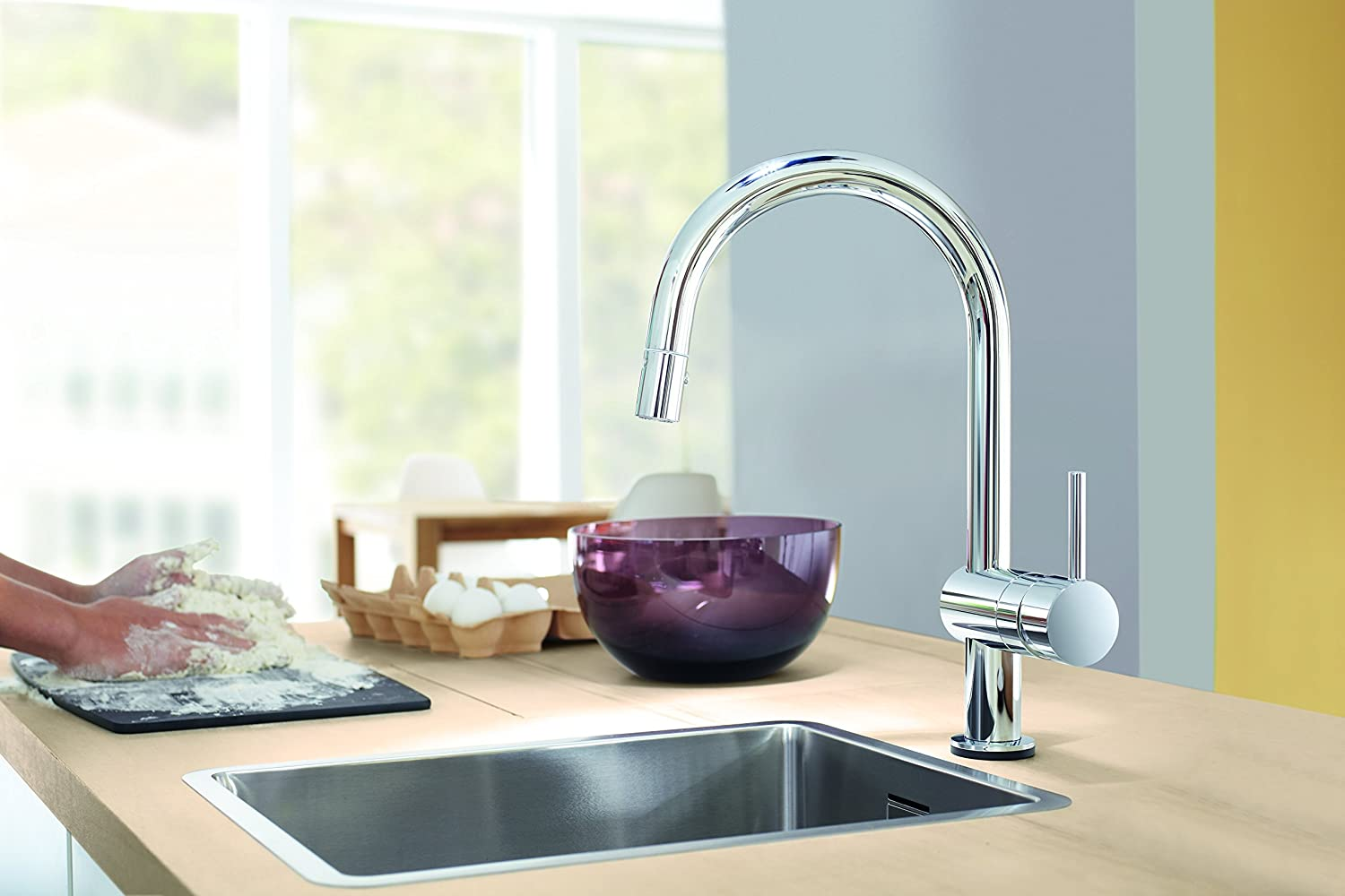 Minta Single-Handle Pull-Down High Arc Kitchen Faucet - Touch On ...