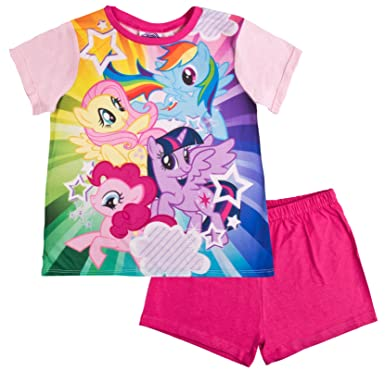 ce875a739e67 My Little Pony Girls Short Pyjamas Pjs Rainbow 2-3  Amazon.co.uk ...