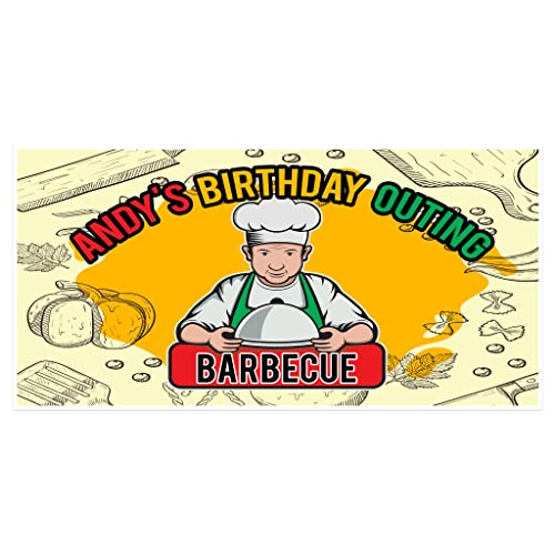 Barbecue Cookout Party Banner Personalized Backdrop Decoration