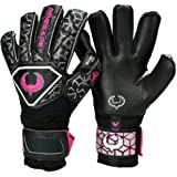 Renegade GK Triton Goalie Gloves with Microbe-Guard (Sizes 5-11, 3 Styles, Level 2) Pro-Tek Fingersaves & Durable 3.5+3MM Sup