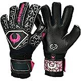 Renegade GK Triton Goalie Gloves (Sizes 5-11, 3 Cuts, Lvl 2), Pro-Tek Fingersaves - Great Hard Ground Goalkeeper Glove - Extra Durable German Super Grip Palms - 30 Day Guarantee