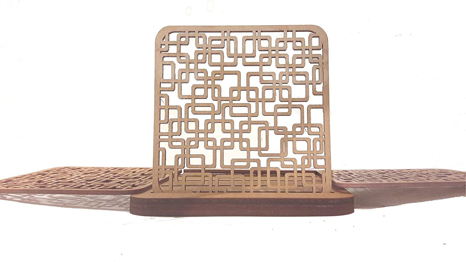 Decorative Wood Tabletop Coasters LithuWood Circles Table Protection Drink Coasters Hot Pads Plate Tray Tea Coffee Mug Tabletop Barware 4x4 inch 10x1