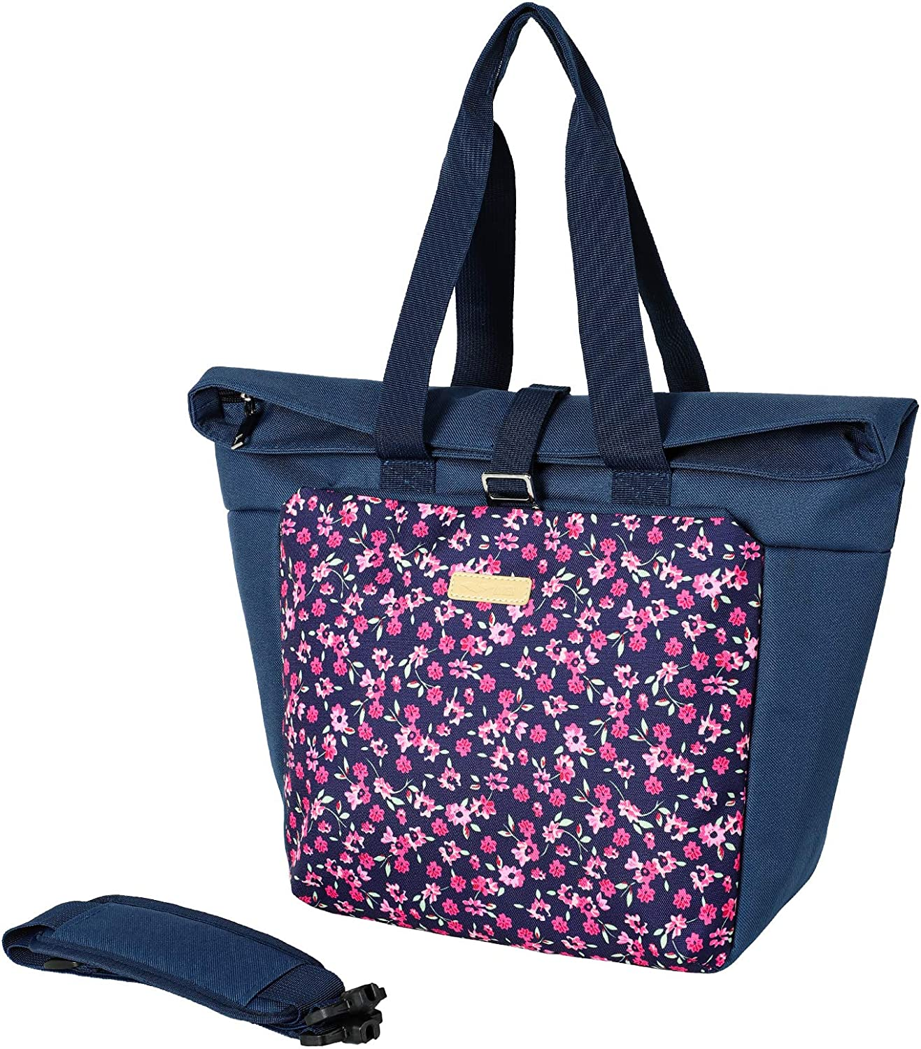 MIER Adult Cute Lunch Bag Tote with Shoulder Strap Insulated Leakproof Large Soft Cooler Bag for Work, Grocery Shopping, Picnic, Beach, Crabapple