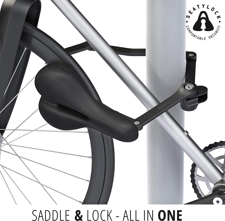 Seatylock Trekking - Candado antirrobo para bicicleta, color negro: Amazon.es: Deportes y aire libre