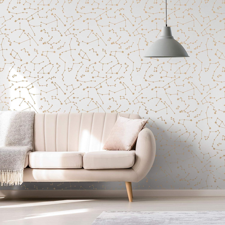 Novogratz Navy Constellations Designer Removable Peel and Stick Wallpaper