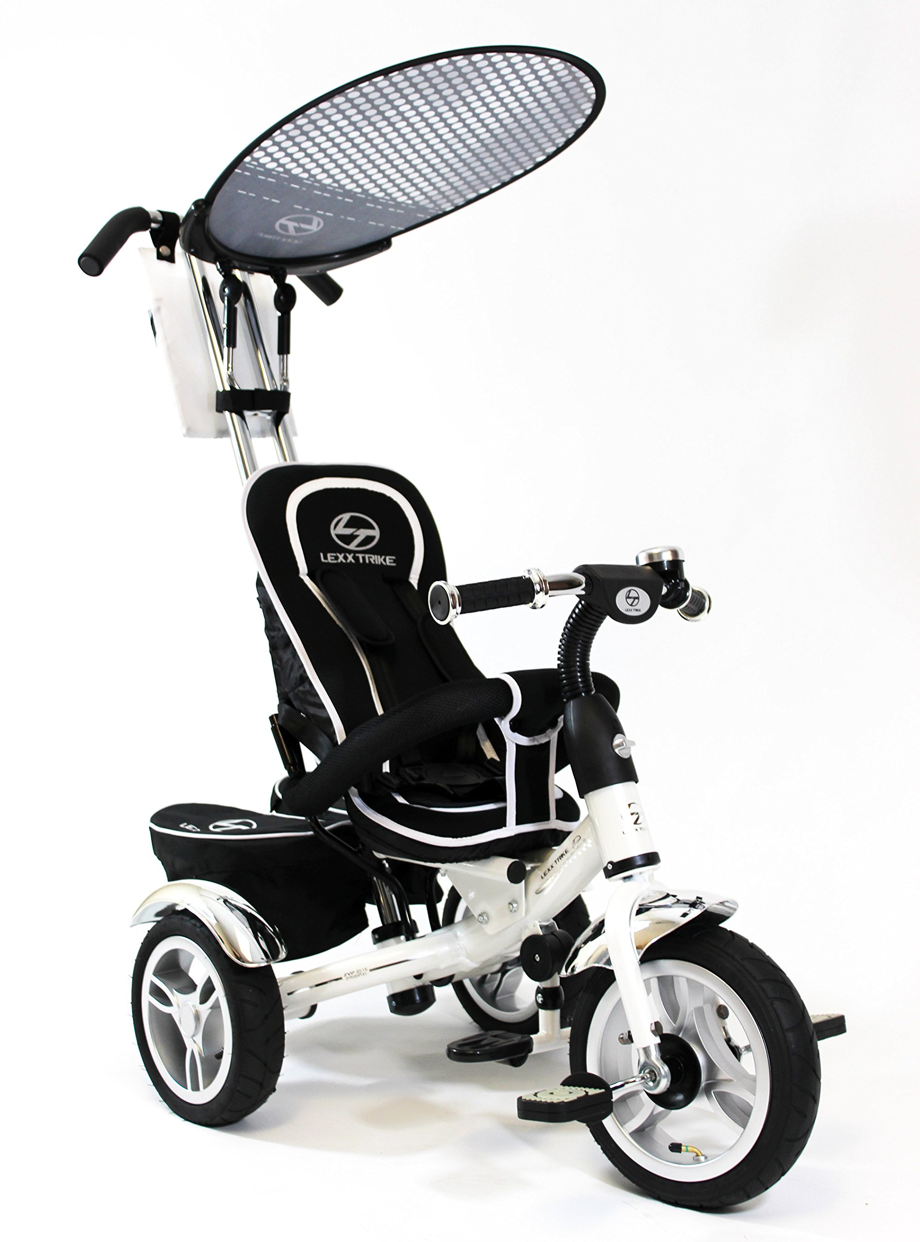 Lexx Trike 4in1 VIP Smart Kid's Tricycle 3 Wheel Bike Removable Handle & Canopy NEW WHITE