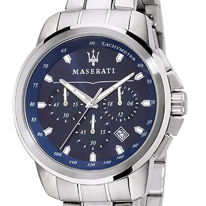 Amazon.com: Maserati successo Mens Analog Quartz Watch with Stainless Steel Bracelet R8873621002: Watches