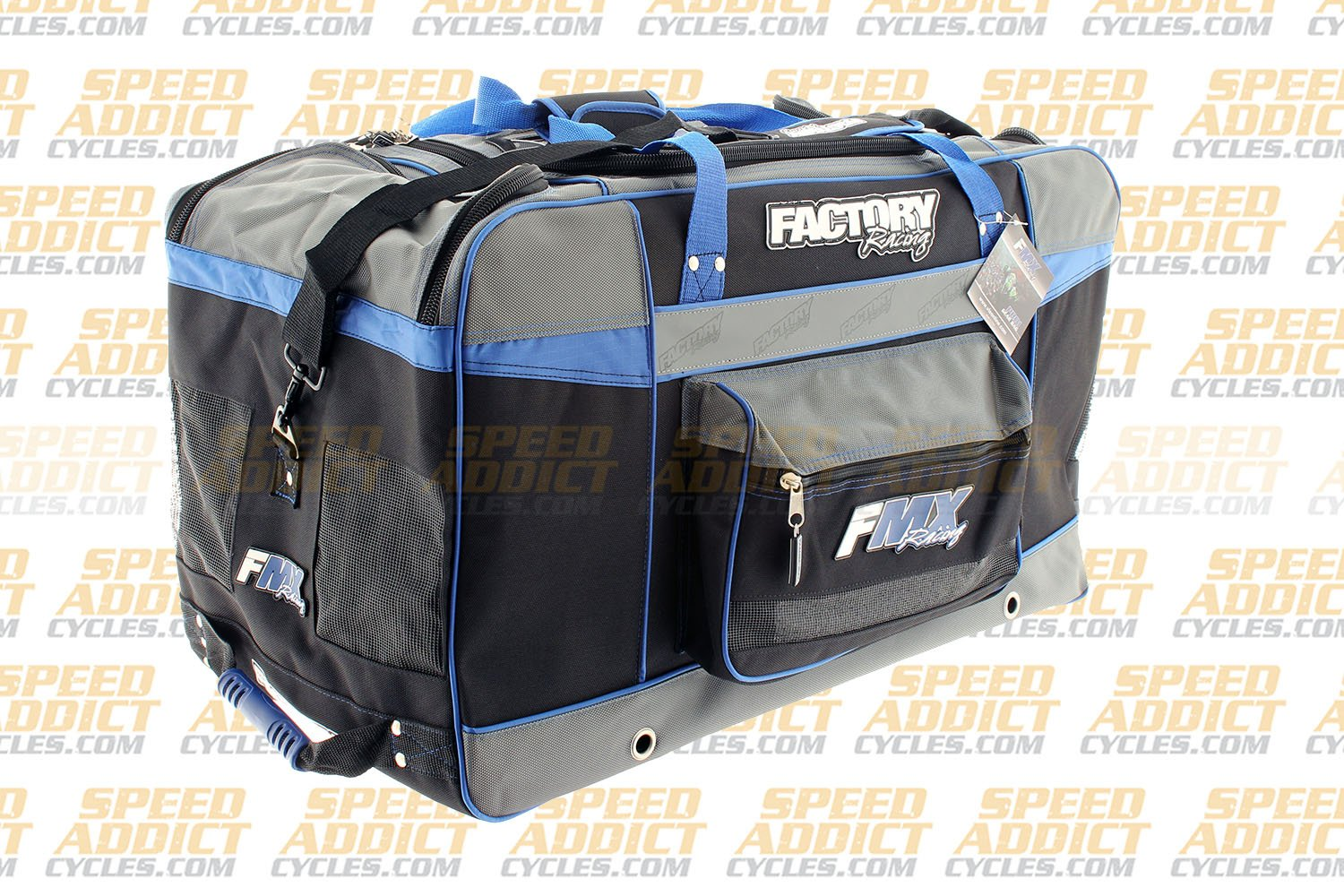 Factory FMX Motorcross Gear Bag XLarge Blue by Factory Racing (Image #3)