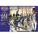 Waterloo Infantería Napoleónica Francesa 1807-1812 - 60 Figura Box Set con Banderas - 28mm Plastic Miniatures